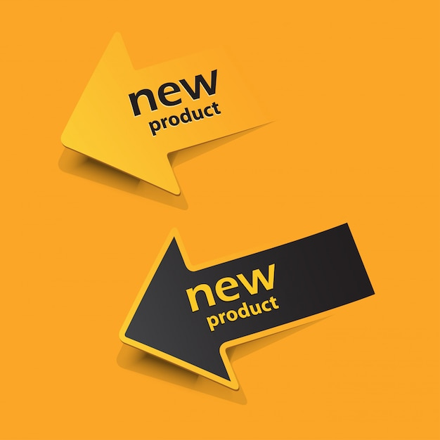 New product  stickers and tags Premium Vector