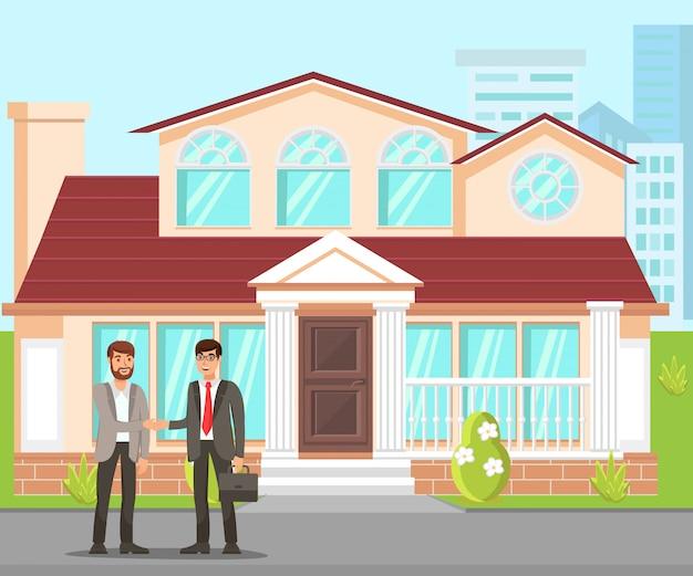 New property purchasing flat Premium Vector