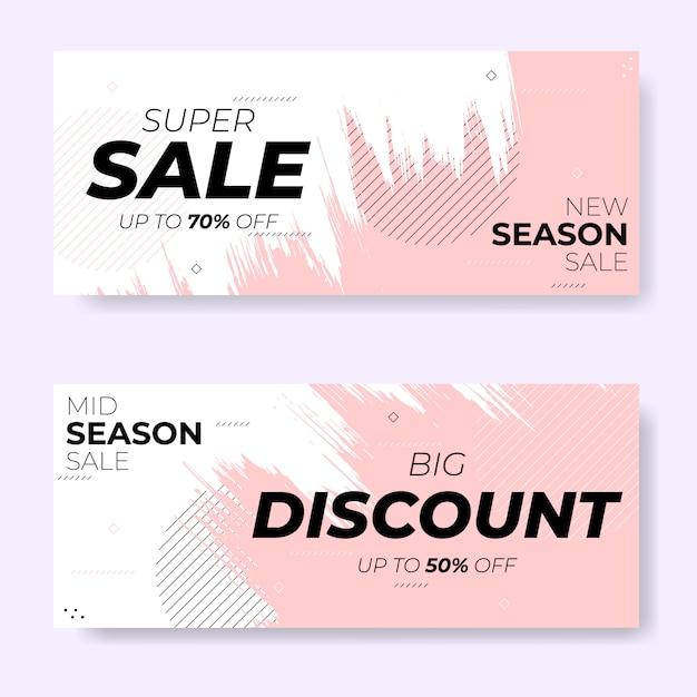 Набор баннеров для продажи кистей нового сезона Premium векторы