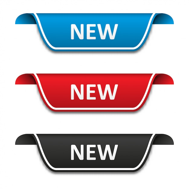 New tag label set Premium Vector