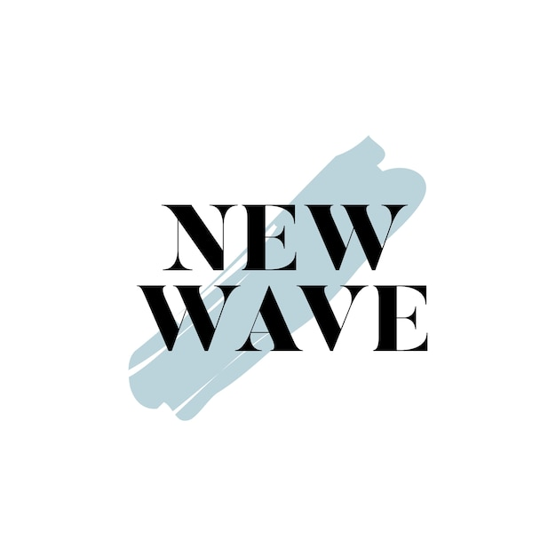 New wave typography logo vector Free Vector