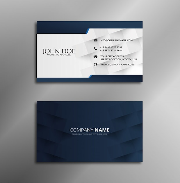 New white and blue business card design vector premium download new white and blue business card design premium vector colourmoves
