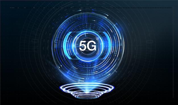 新しいワイヤレスインターネットwifi接続。ビッグデータのバイナリコードフロー番号。 Premiumベクター
