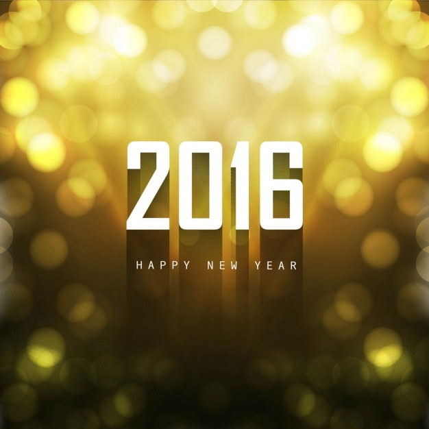 New year 2016 background in bokeh style
