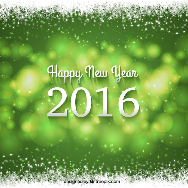 New Year 2016 Green Background