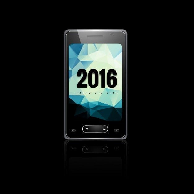 New year 2016 mobile phone screen background