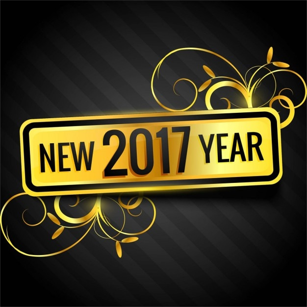 New year 2017 background Free Vector