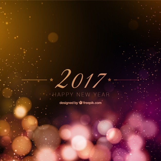New year 2017 bokeh background Vector | Free Download