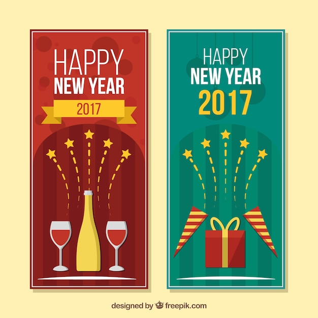 New year 2017 invitations Vector | Free Download