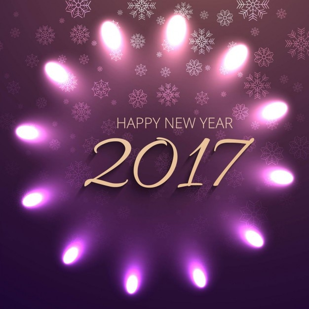 New year 2017 shiny background Free Vector