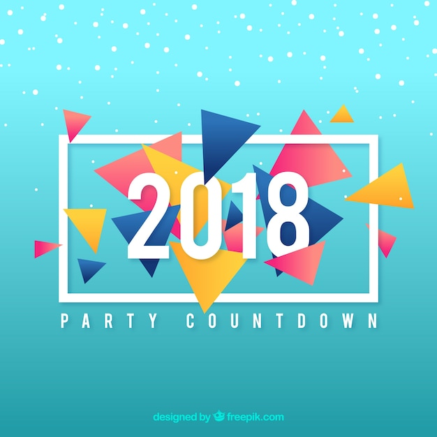 New year 2018 background  Free Vector