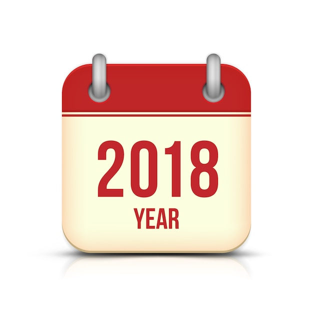 new year 2018 calendar icon vector premium download