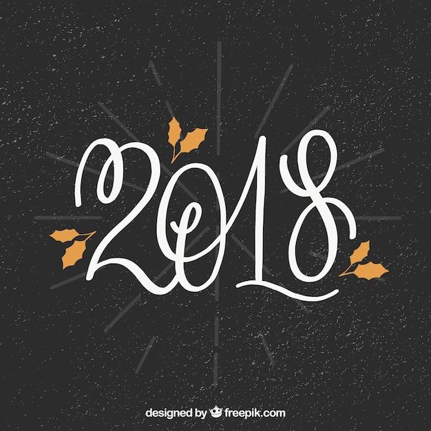 New year 2018 celebration background