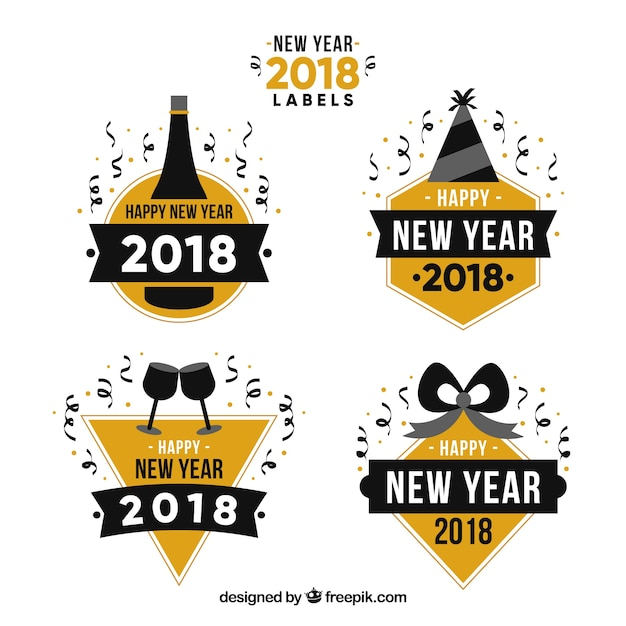 new year 2018 labels collection stock images page everypixel