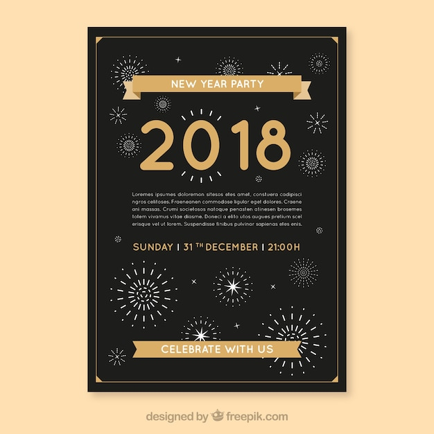 New year 2018 party flyer poster vector free download new year 2018 party flyer poster free vector stopboris Gallery