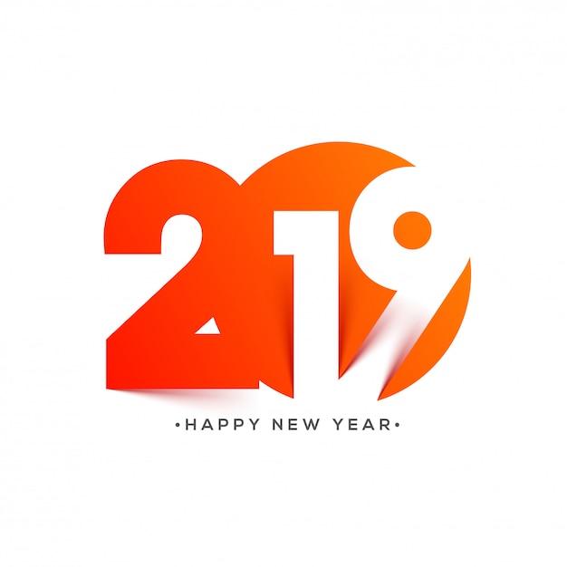 New year 2019 background. Premium Vector