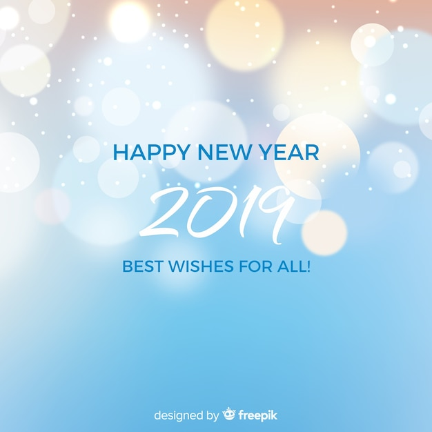 New year 2019 background Vector   Free Download