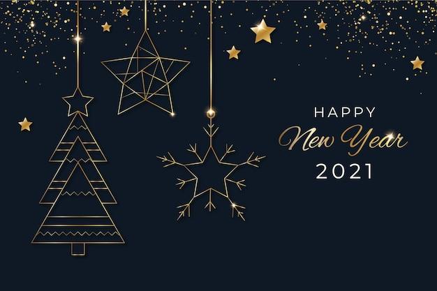 Новый год 2021 фон Бесплатные векторы