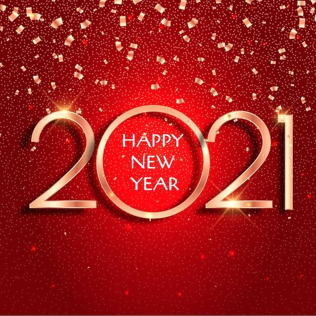 Новый год 2021 конфетти фон Бесплатные векторы