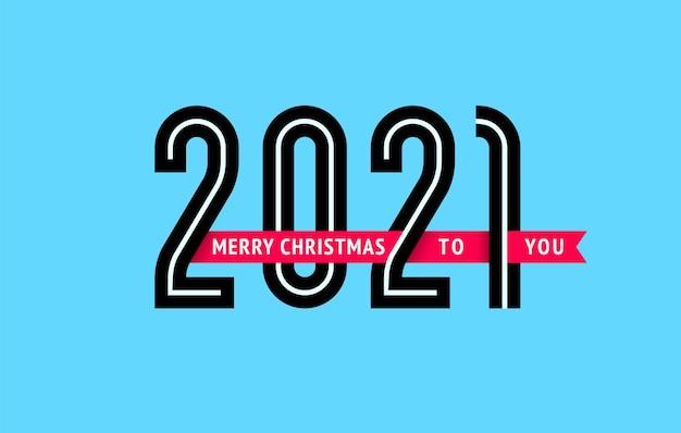 New year 2021 design Premium Vector