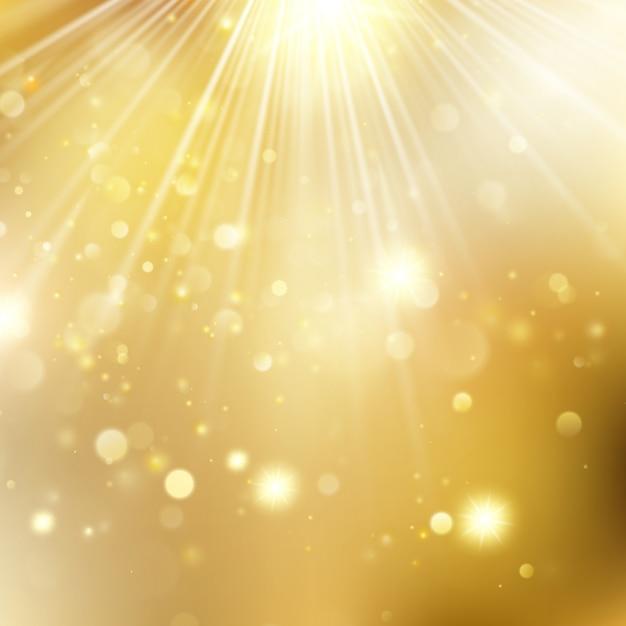 新年と星が点滅しているクリスマス多重背景。ゴールデンクリスマス休日輝く背景。そしてまた含まれています Premiumベクター