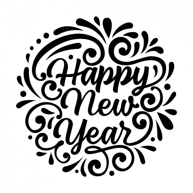 New year background design Free Vector