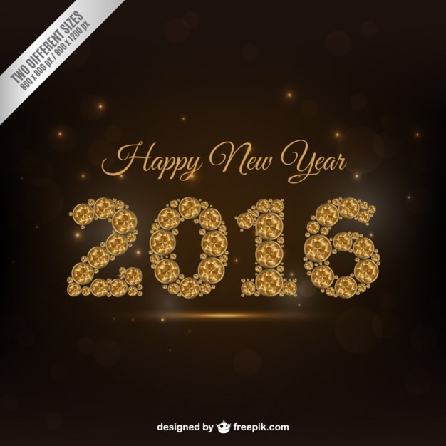New year background with abstract 2016 numbers