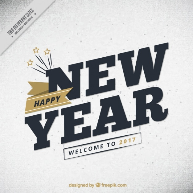 New year background with golden details in vintage style Free Vector