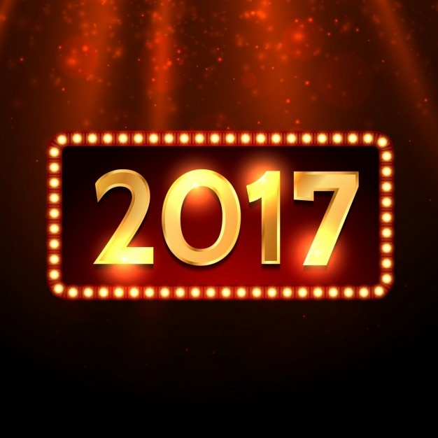 New year background with theater lights