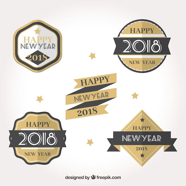 New year badges pack