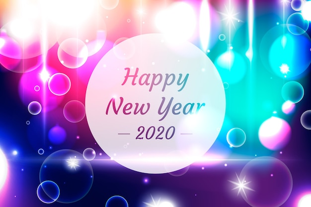 New year blurred background Free Vector