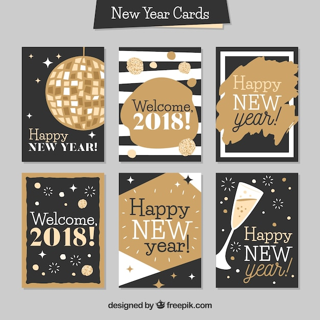 New year card collection