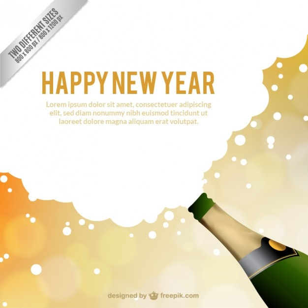 new year card template vector free download