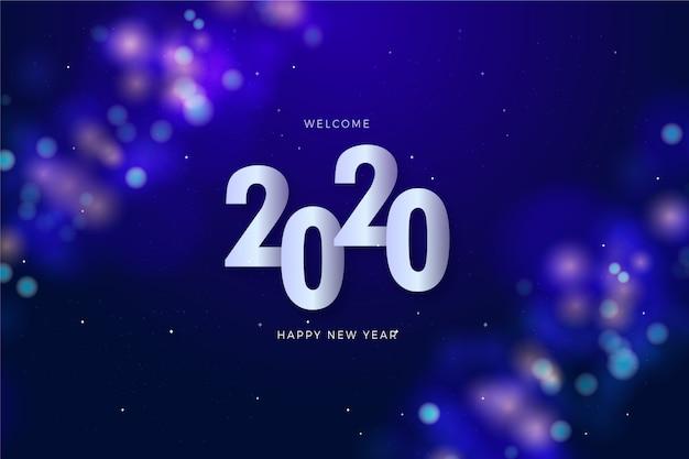Concetto di numero datato di nuovo anno Vettore gratuito
