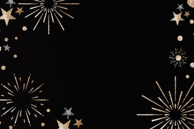 Priorità bassa festiva cornice nera di fuochi d'artificio di nuovo anno Vettore gratuito