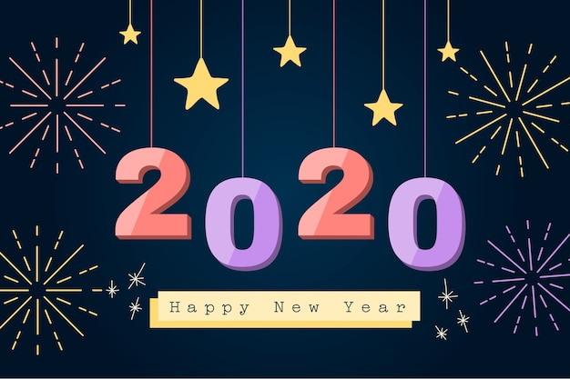 New year flat design background Vector  Free Download