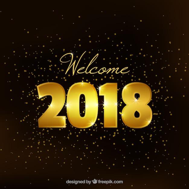 New year golden background