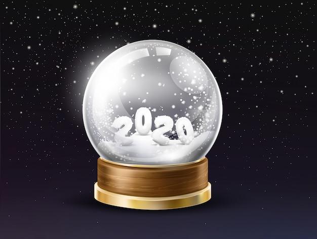 New year holiday souvenir realistic vector Free Vector