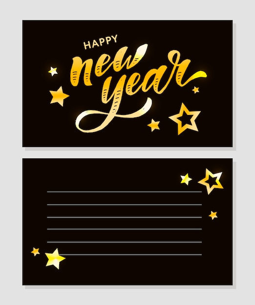 New year lettering Premium Vector