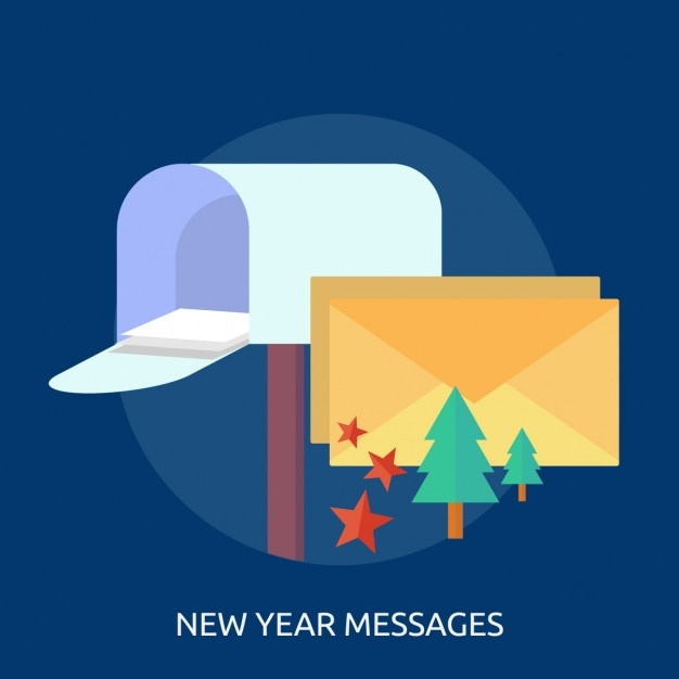 New year messages background design Vector | Free Download