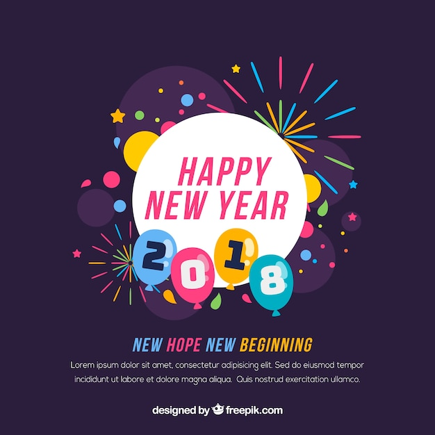 New year new beginning background Vector | Free Download