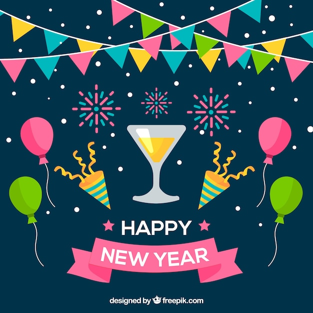new year party background free vector
