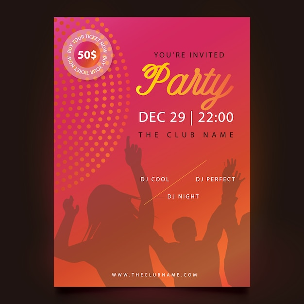 New Year Party Poster Design