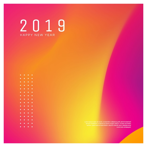 New year poster for your social media post. Premium Vector