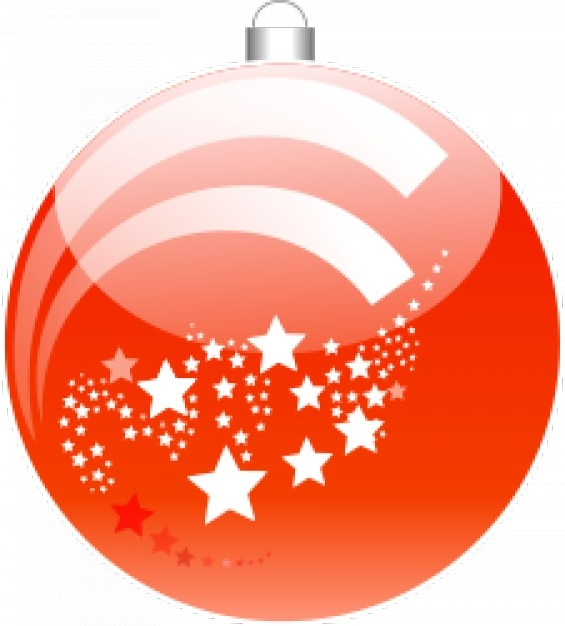 New year's ball Free Vector