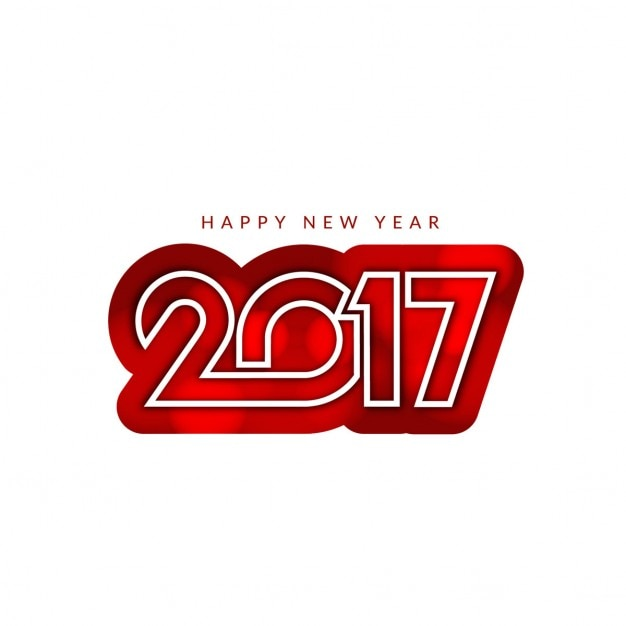 New year with red numbers on a white\ background