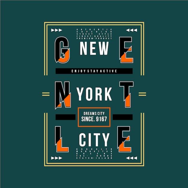 New york city graphic design t shirt Premium Vector