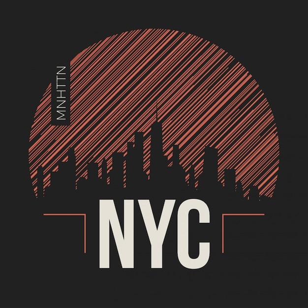 Нью-йорк лейбл Premium векторы