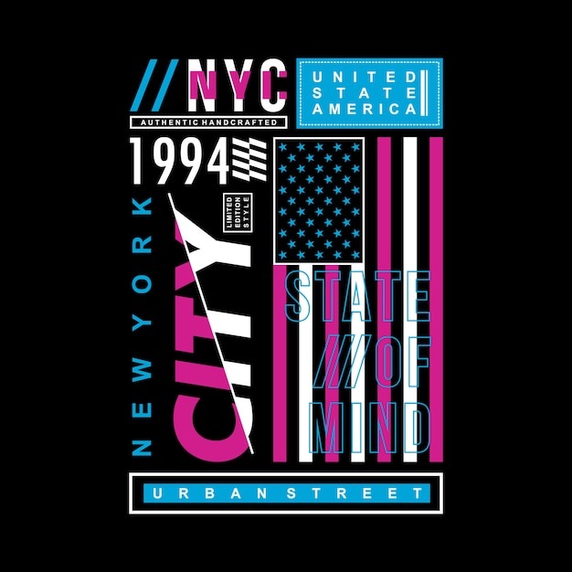 8f559d5a9 New york city typography vector cool design Vector | Premium Download