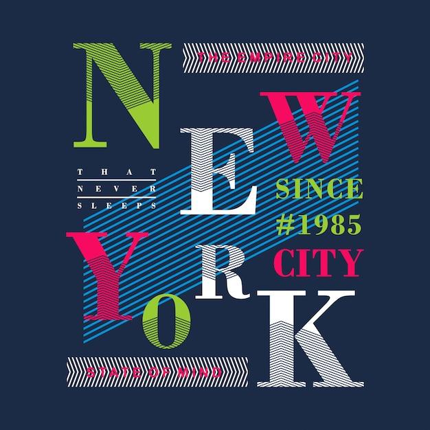 New york colorful graphic t shirt design vector Premium Vector